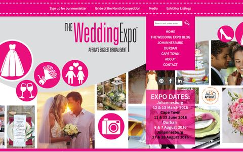 Screenshot of Home Page wedding-expo.co.za - South Africa's ultimate wedding expo | The Wedding Expo - captured Feb. 19, 2016
