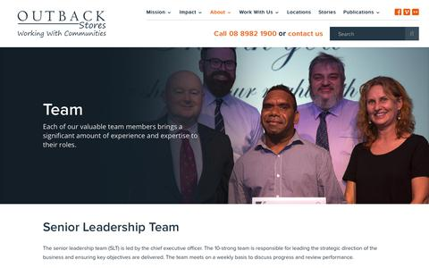 Screenshot of Team Page outbackstores.com.au - Team | Outback Stores - captured Oct. 19, 2018