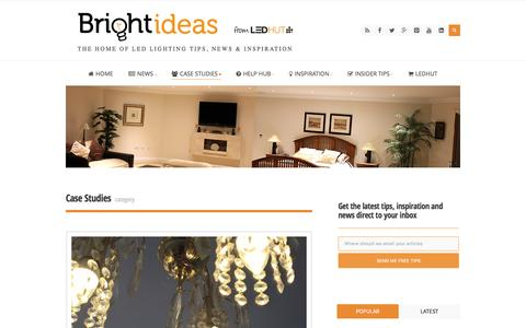 Screenshot of Case Studies Page ledhut.co.uk - Case Studies Archives - Bright Ideas from LED Hut - captured July 9, 2016