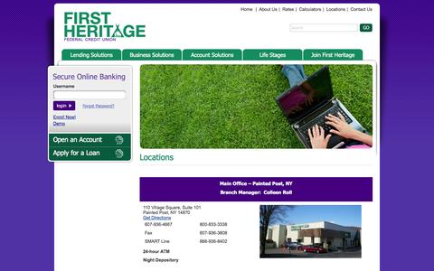 Screenshot of Locations Page fhfcu.org - Locations - - captured Sept. 19, 2014
