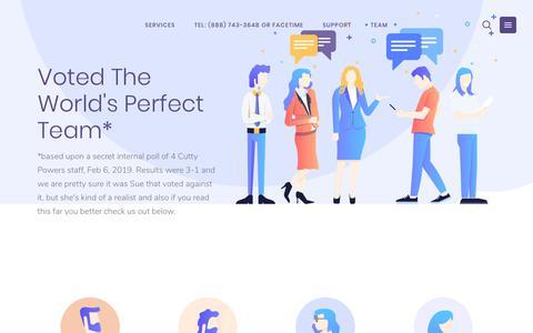 Screenshot of Team Page cuttypowers.com - Meet the team – Cutty Powers - captured Feb. 13, 2019