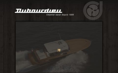 Screenshot of Home Page dubourdieu.fr - Shipyard - Dubourdieu - Gujan Mestras - captured June 3, 2016