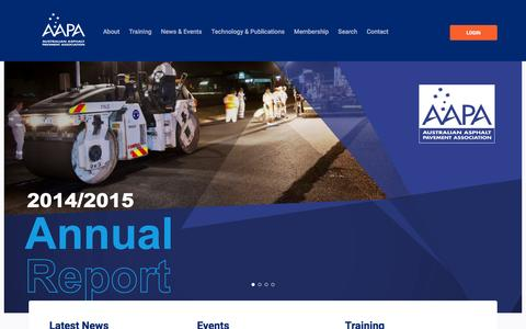 Screenshot of Home Page aapa.asn.au - AAPA - AAPA - Australian Asphalt Pavement Association - captured Feb. 4, 2016