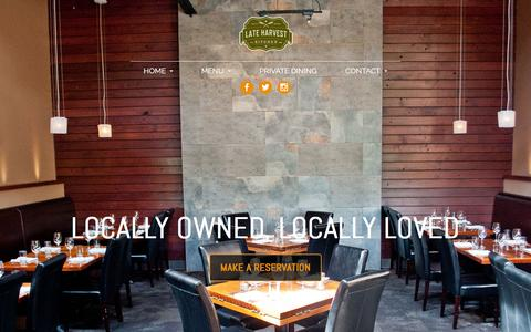 Screenshot of Home Page lateharvestkitchen.com - Home | Late Harvest Kitchen | Indianapolis, IN - captured March 8, 2016