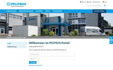 Screenshot of Login Page pflitsch.de - Login - captured Sept. 26, 2018