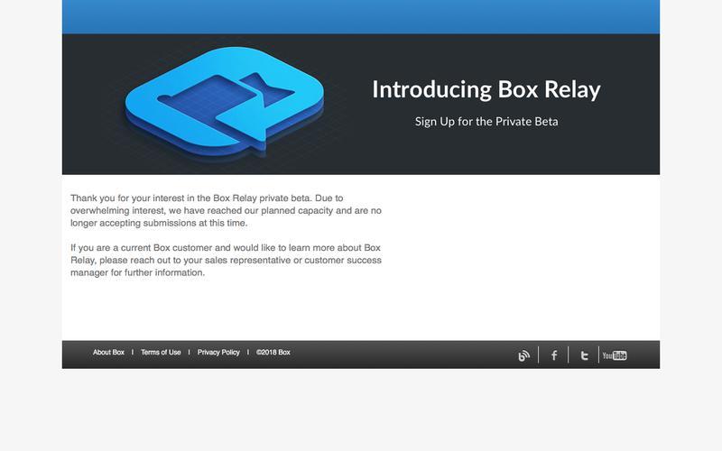 Box Relay Beta