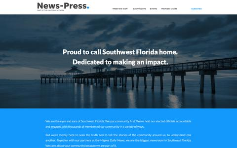 Screenshot of About Page news-press.com - Make the Connection with the News-Press - captured Nov. 7, 2018