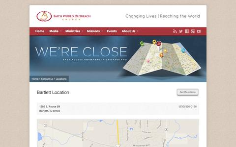 Screenshot of Locations Page fwo.org - Locations - Faith World Outreach Church - captured Oct. 6, 2014