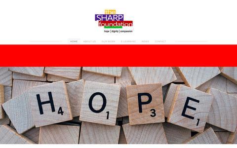 Screenshot of Home Page thesharpfoundation.com - The SHARP Foundation - HOME - captured Nov. 17, 2017