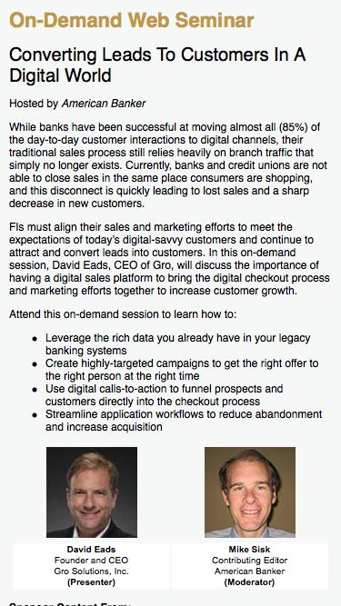 Converting Leads To Customers In A Digital World Web Seminar