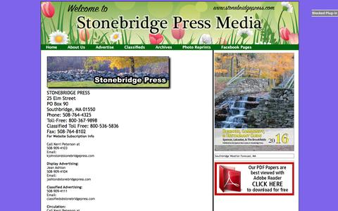 Screenshot of About Page webstertimes.net - Contact Us - captured June 3, 2016