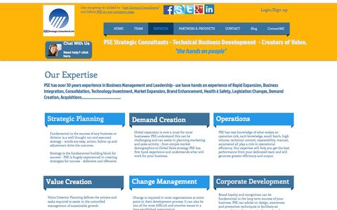 Screenshot of Home Page psestrategicconsultants.com - PSE Strategic Consulting - captured Oct. 12, 2014