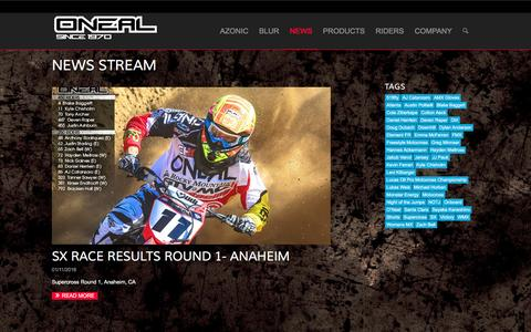 Screenshot of Press Page oneal.com - O'Neal | News Stream - captured Jan. 17, 2016