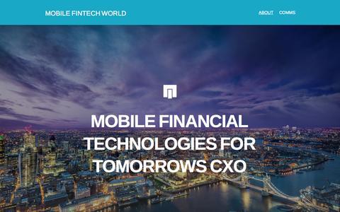 Screenshot of Home Page mobilefintechworld.com - MOBILE FINTECH WORLD - captured Sept. 4, 2015