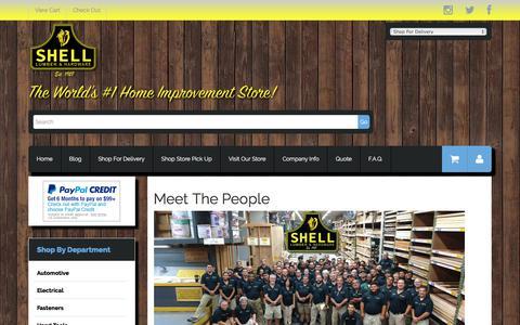 Screenshot of Team Page shelllumber.com - Meet The People - captured Oct. 4, 2017