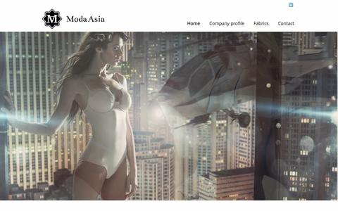 Screenshot of Home Page modaasia.com - Moda Asia | Recognized for creativity and innovation! - captured Oct. 9, 2014