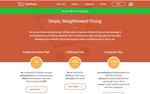 Screenshot of Pricing Page cartrover.com - Pricing - CartRover - captured May 15, 2017