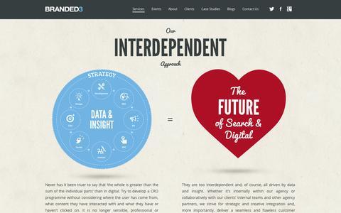Screenshot of Services Page branded3.com - Digital Marketing Agency Services from Branded3 - captured Sept. 18, 2014