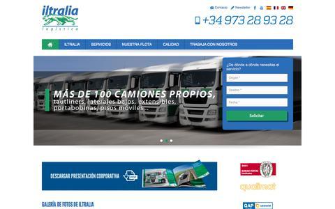 Screenshot of Home Page iltralia.com - Iltralia, especialistas en transporte de mercancías nacional y internacional - captured Jan. 27, 2015
