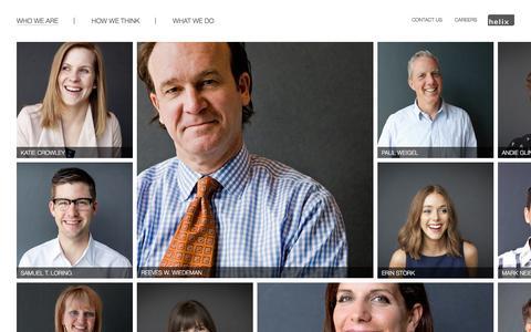Screenshot of Team Page helixkc.com - People » Helix - captured Jan. 28, 2016