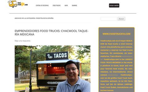 Screenshot of Blog foodtruckya.com - FOODTRUCKYA ESPAÑA Archives - Blog Foodtruckya - captured Nov. 20, 2018