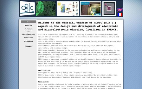 Screenshot of Home Page cdd-ic.com - consulting in electronics and microelectronics - captured Sept. 26, 2014