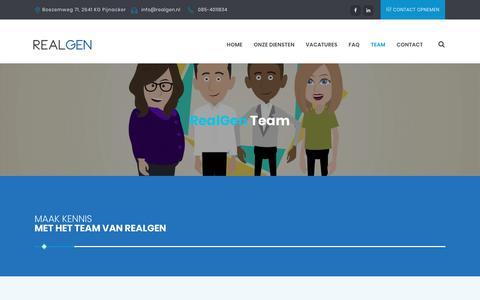 Screenshot of Team Page realgen.nl - Team - RealGen - captured Nov. 17, 2018