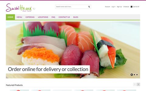Screenshot of Home Page sushihaven.co.uk - Sushi Haven |  Home - captured Sept. 30, 2014