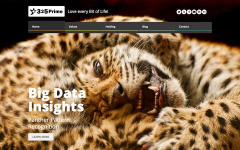 Screenshot of Home Page 325prime.com - 325Prime - Love every bit of life - captured Oct. 9, 2014