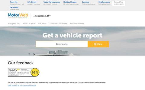 "Screenshot of Testimonials Page motorweb.co.nz - History Check Feedback | NZ's Leading Car History Report | MotorWebâ""¢ NZ - captured Sept. 22, 2018"