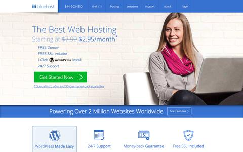 The Best Web Hosting - Web Hosting Services  - Bluehost
