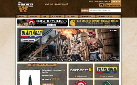 Screenshot of Blog theworkwearstore.com - Carhartt Clothing Work Clothes and Workwear - captured Oct. 26, 2014