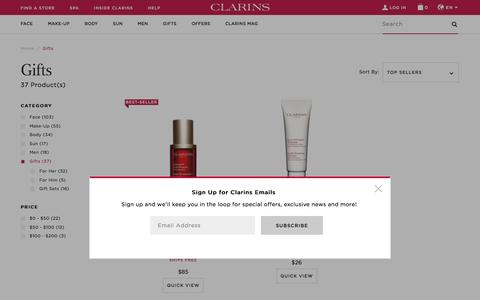 Gift Ideas and Gift Sets for Her and for Him by Clarins