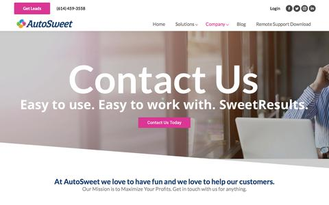 Screenshot of Contact Page autosweet.com - Contact Us | AutoSweet - captured July 31, 2018