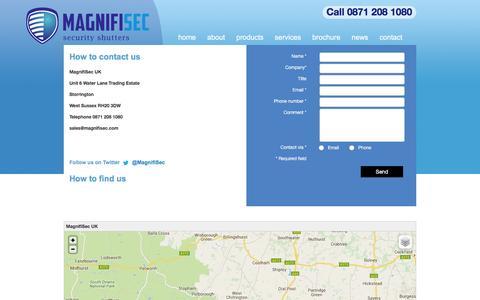 Screenshot of Contact Page magnifisec.com - contact | Magnifisec - captured Dec. 21, 2015