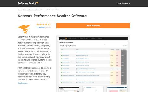 Network Performance Monitor Software - 2017 Reviews