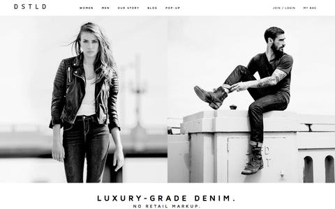 Screenshot of Home Page dstldjeans.com - DSTLD Jeans | Luxe Denim from $65 - captured Dec. 13, 2014
