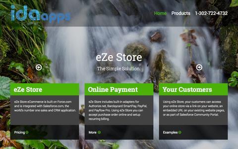 Screenshot of Pricing Page idaapp.com - Home - captured Nov. 3, 2014