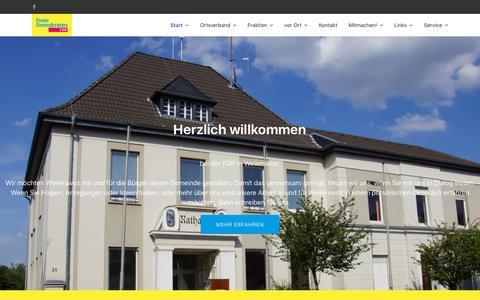 Screenshot of Home Page fdp-weilerswist.de - Start - FDP Weilerswist - captured June 9, 2018