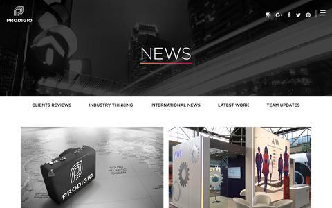 Screenshot of Press Page prodigio.co.uk - News - Prodigio - Prodigio - captured Aug. 26, 2017