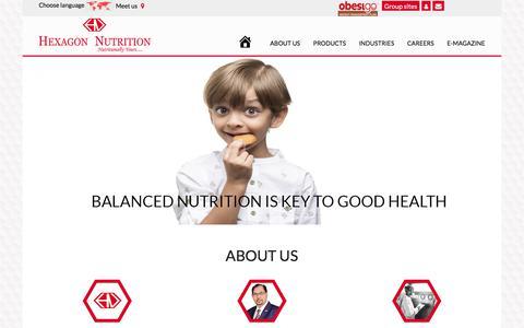 Screenshot of Home Page hexagonnutrition.com - Hexagon Nutrition | Hexagon Nutrition - captured Sept. 25, 2018
