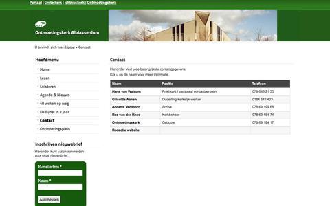 Screenshot of Contact Page pknalblasserdam.nl - Contact - captured Oct. 27, 2014