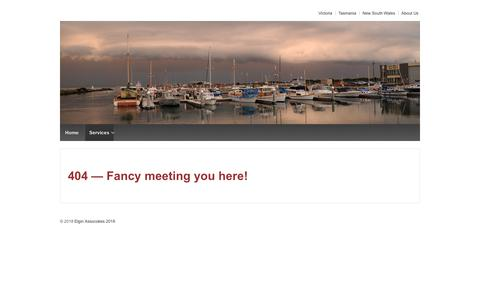 Screenshot of Services Page elgin.com.au - Services - Elgin Associates Pty Ltd - captured Sept. 27, 2018