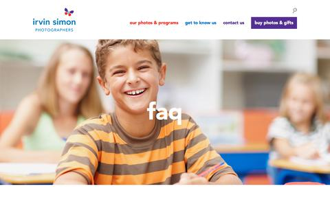 Screenshot of FAQ Page irvinsimon.com - FAQ | Irvin Simon - captured Sept. 25, 2018