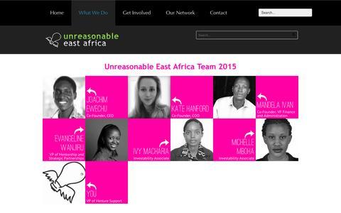 Screenshot of Team Page unreasonableeastafrica.org - Our Team   Unreasonable East Africa - captured March 8, 2016