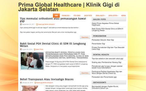 Screenshot of Home Page pghdentalclinic.com - Prima Global Healthcare | Klinik Gigi Terbaik di Jakarta Selatan - captured Jan. 25, 2017