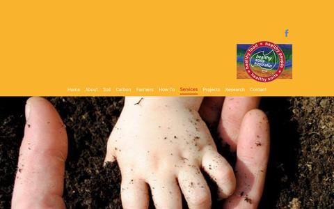 Screenshot of Services Page healthysoils.com.au - Services | Australia | Healthy Soils Australia - captured Jan. 30, 2017