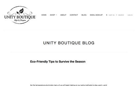 Screenshot of Blog unityboutique.com - Unity Boutique Blog   Unity Boutique - captured Jan. 10, 2016