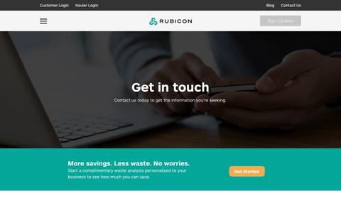 Contact Rubicon Global for Information About Waste Management