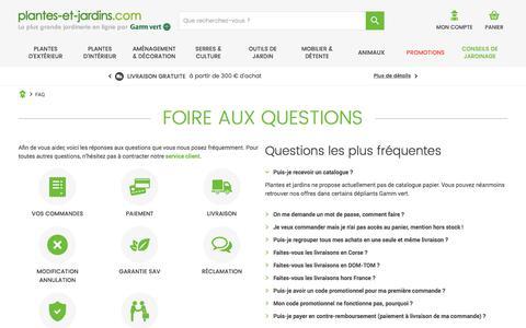 Screenshot of FAQ Page plantes-et-jardins.com - Foire aux Questions - Plantes et Jardins - captured Sept. 2, 2017